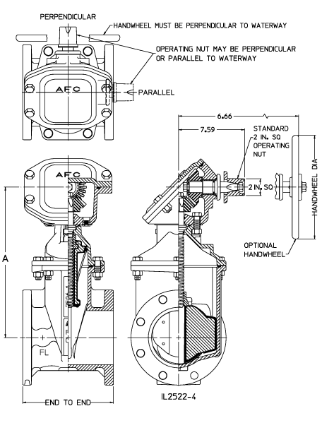 2 4 3 23 3 2 12 Gate Valves Fl Ends Standard Nrs W Emg Dimensions Print