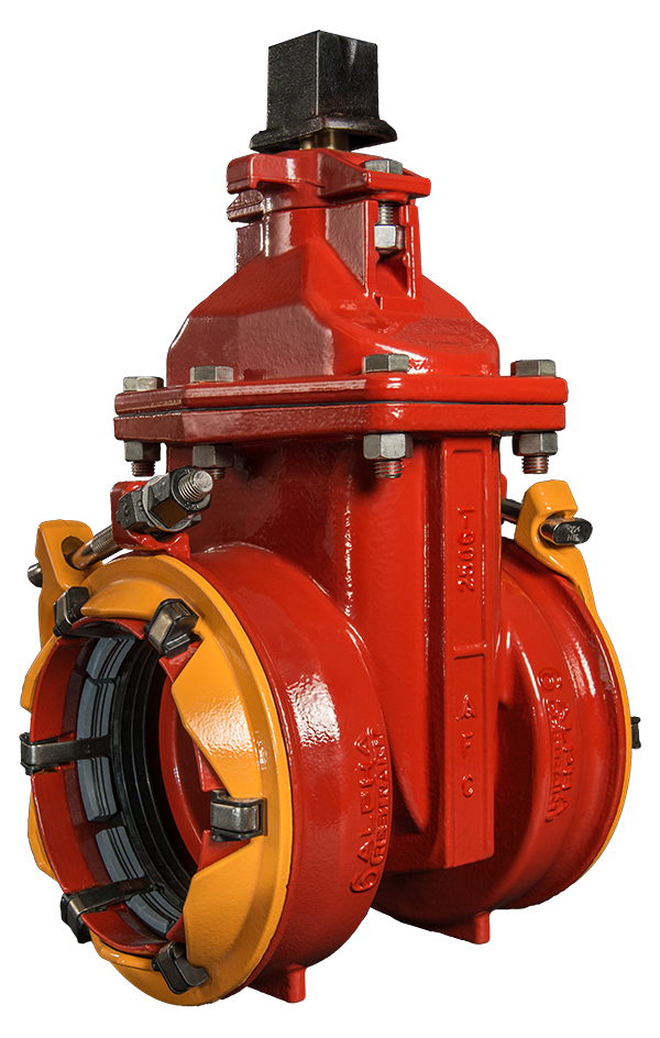 4 12 Resilient Wedge Nrs Gate Valves With Alpha Restrained Joint Ends American