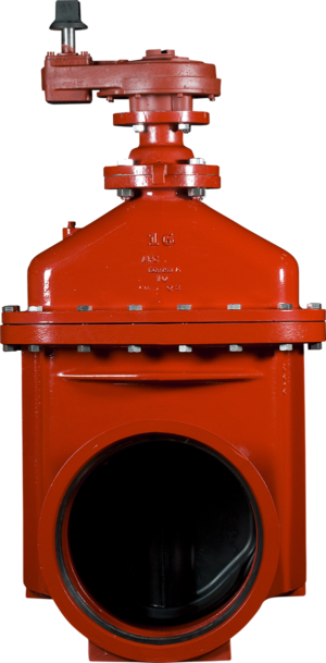 """14""""-16"""" Resilient Wedge NRS Gate Valves with Push-On Ends - Spur Gear Actuator"""
