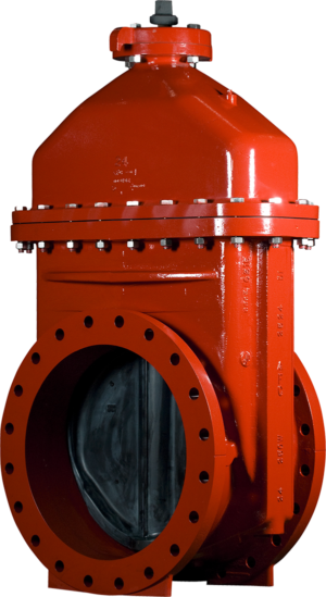 """14""""-24"""" Resilient Wedge NRS Gate Valves with Flanged x Mechanical Joint Ends"""