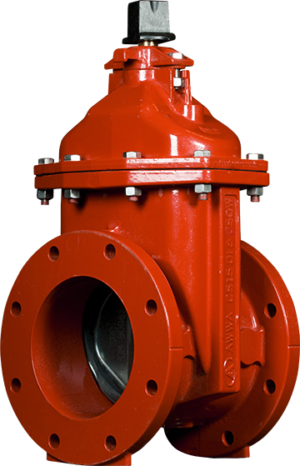 """4""""-12"""" Series 3500 Resilient Wedge NRS Gate Valves with Flanged Ends"""