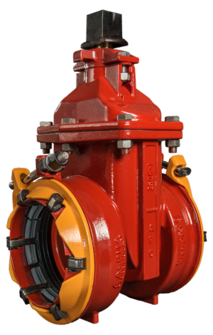 "4""-12"" Resilient Wedge NRS Gate Valves with ALPHA™ Restrained Joint Ends"