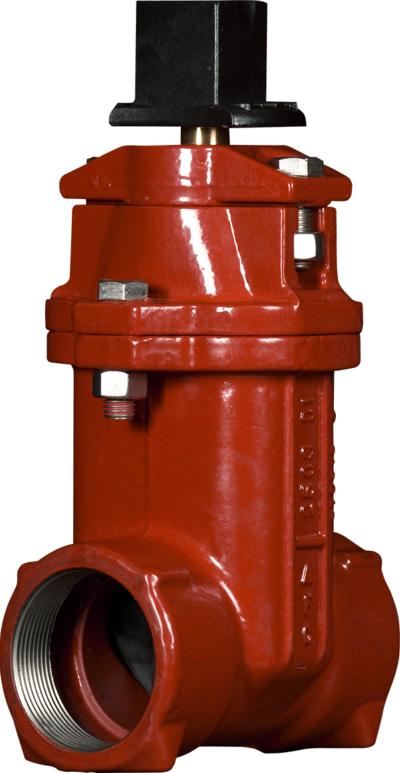 """2""""-3"""" Resilient Wedge NRS Gate Valves with Threaded Ends"""