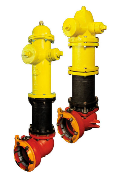 American-Darling® and Waterous Pacer® Hydrants with ALPHA™ Bases