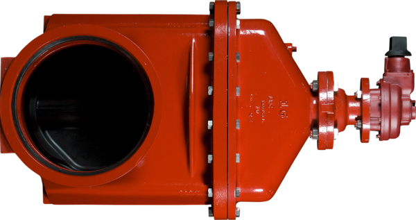 """14""""-16"""" Resilient Wedge NRS Gate Valves with Push-On Ends - Bevel Gear Actuator"""