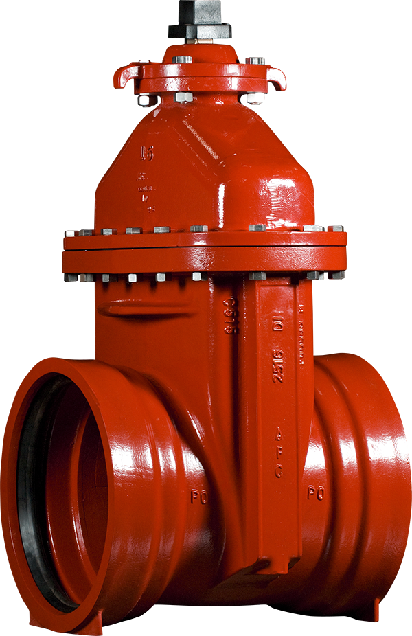 "14""-16"" Resilient Wedge Gate Valves with Push-On Ends"