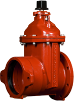 "4""-12"" Resilient Wedge Gate Valves with Flanged x Push-On Joint Ends"