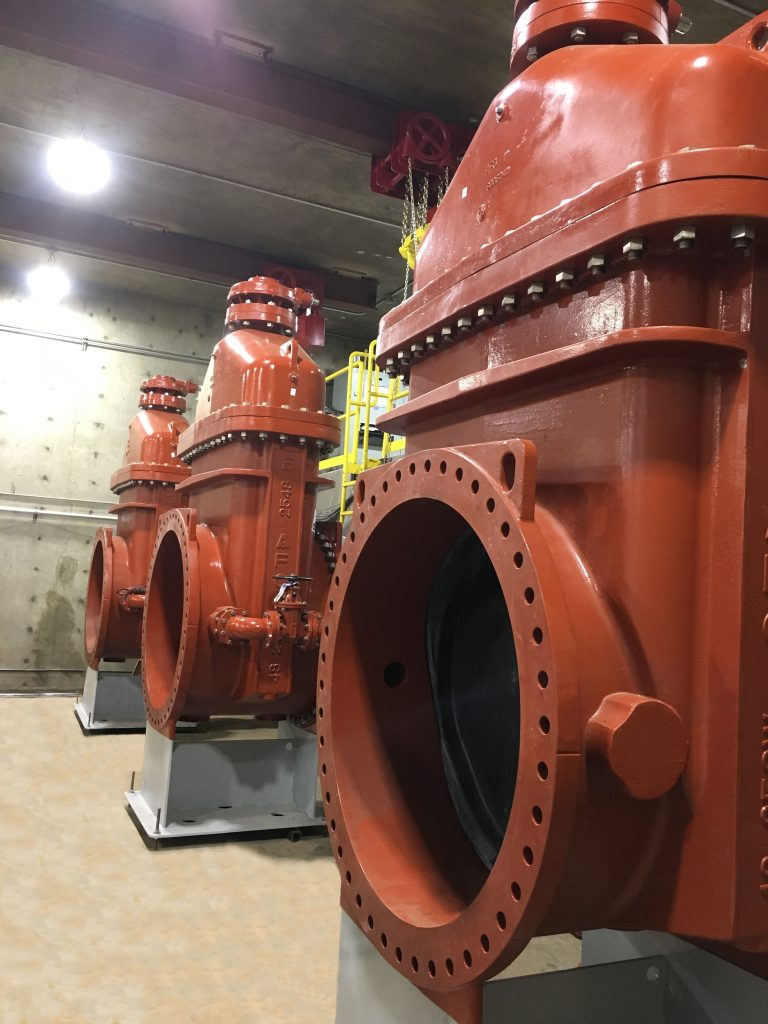 AMERICAN Flow Control provided three 48-inch resilient wedge gate valves for the Rate of Flow Control Station, which manages and maintains the water flowing to the Las Vegas Strip.