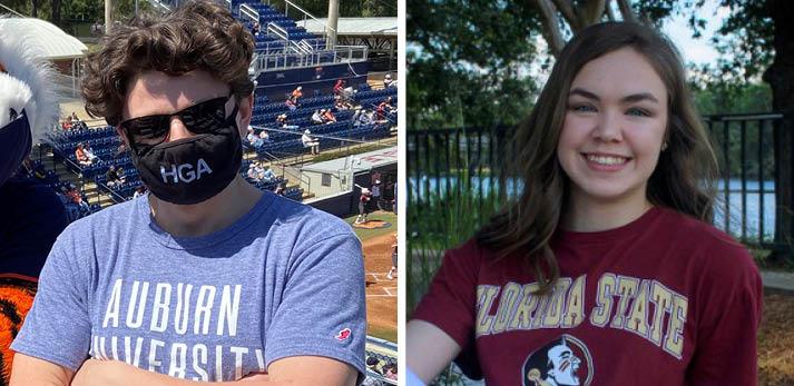 Ethan Kinnaird and Abby Scott