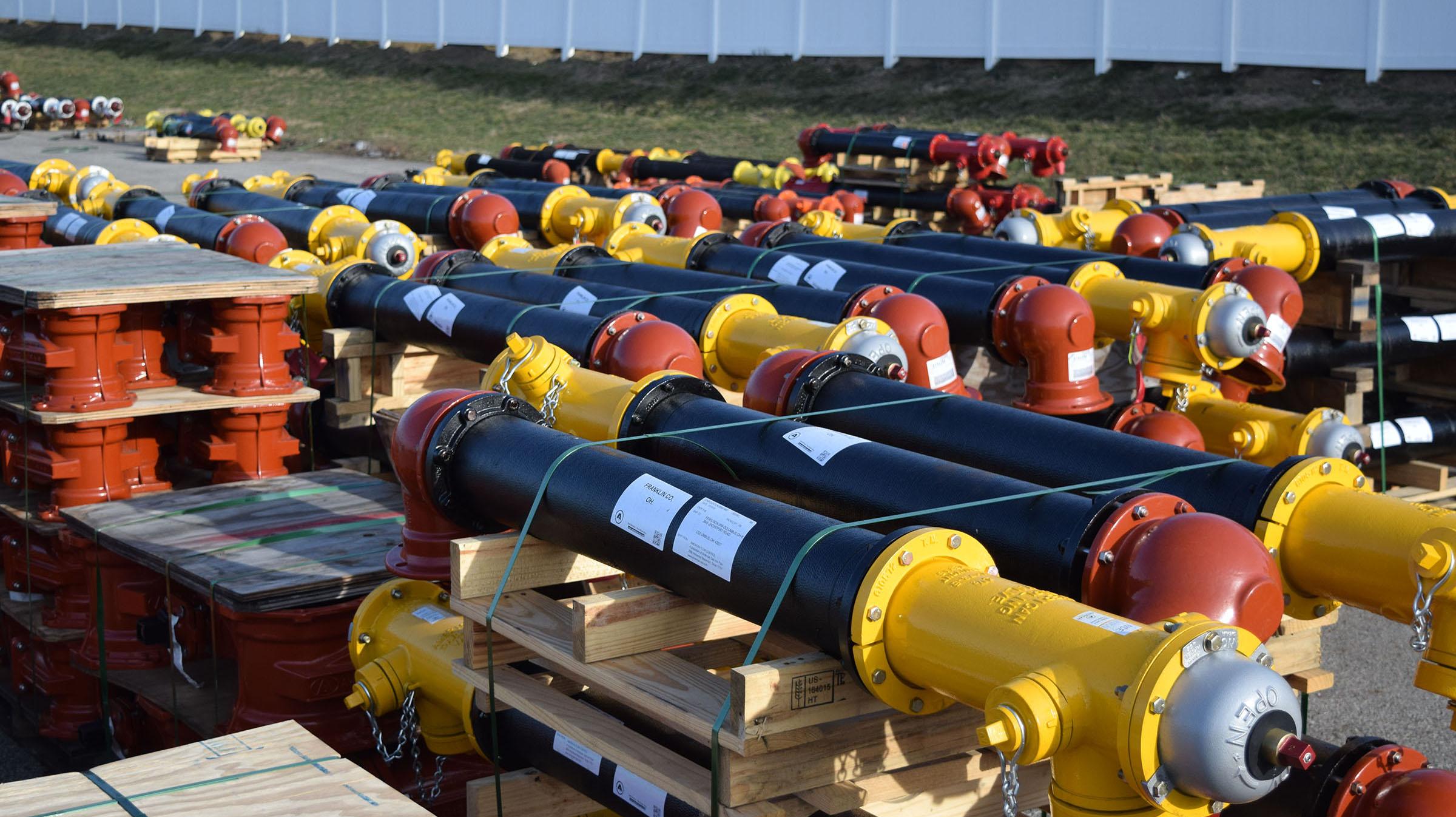 AMERICAN Flow Control, American-Darling MK 73 fire hydrants, resilient wedge gate valves, Elite Excavating