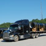 AMERICAN ductile iron pipe is loaded up and ready for shipment to Marshall County, Alabama.