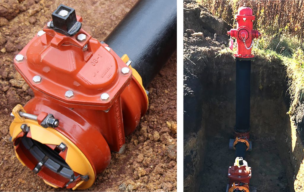 Almost 400 ALPHA restrained joint ends and hydrant bases are being installed as part of the Houtzdale Municipal Authority's distribution replacement project.