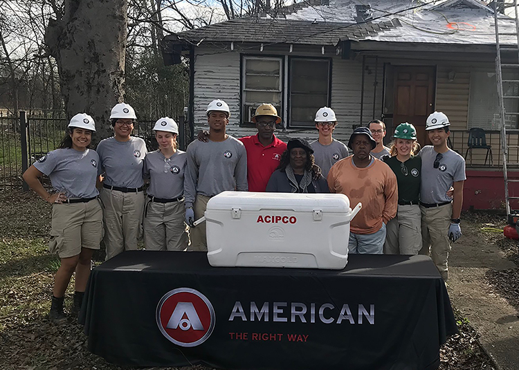 Replace roof in ACIPCO-Finley neighborhood, Birmingham, Alabama.