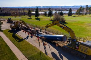 Denver Water's Conduit 94 Project involved the installation of 2,200 feet of 66-inch AMERICAN SpiralWeld Pipe. The contractor was BT Construction Inc. Installation was completed in early 2021.