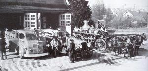 1930s vintage fire truck, Waterous, Waterous pump